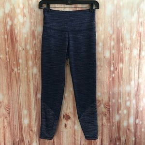 Old Navy Blue Heathered Go Dry Active Leggings